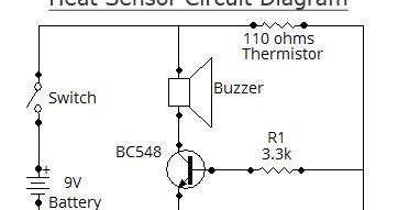 Swith For diagram: Simple Heat Sensor Circuit Diagram