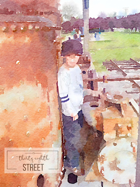 make water color of your family, how to create water color pictures with your family photos, making water color art