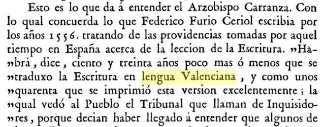 Joaquín Lorenzo Villanueva; De la lección de la Sagrada Escritura en lenguas vulgares, 1791