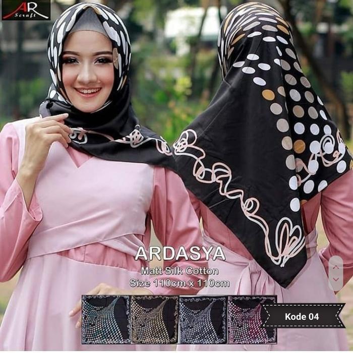 Jilbab Segi Empat Ardasya Motif Polkadot Murah