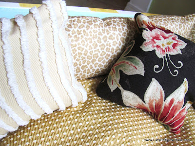 mixed fabric cushions for dog bed