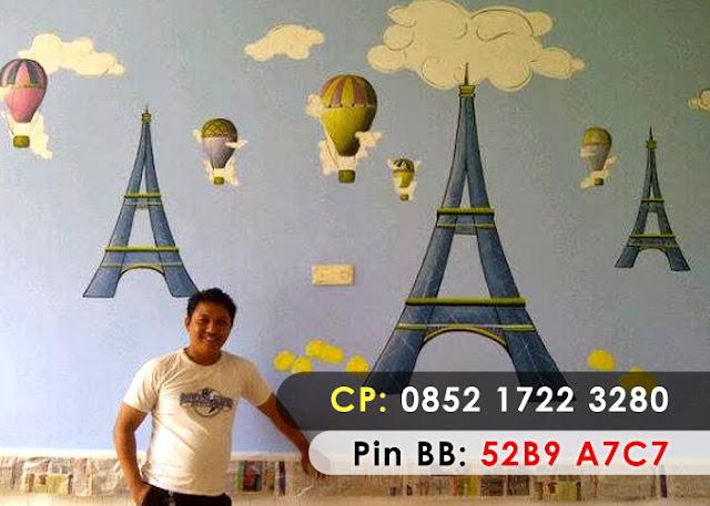 Lukisan dinding kamar simple