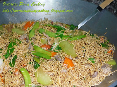 Pancit Lucban, Pansit Hab-hab - Cooking Procedure