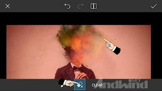 cara edit foto kepala asap warna menggunakan picsart android