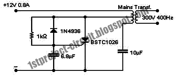 Project Circuit Design: SCR Inverter Circuit Using BSTC1026
