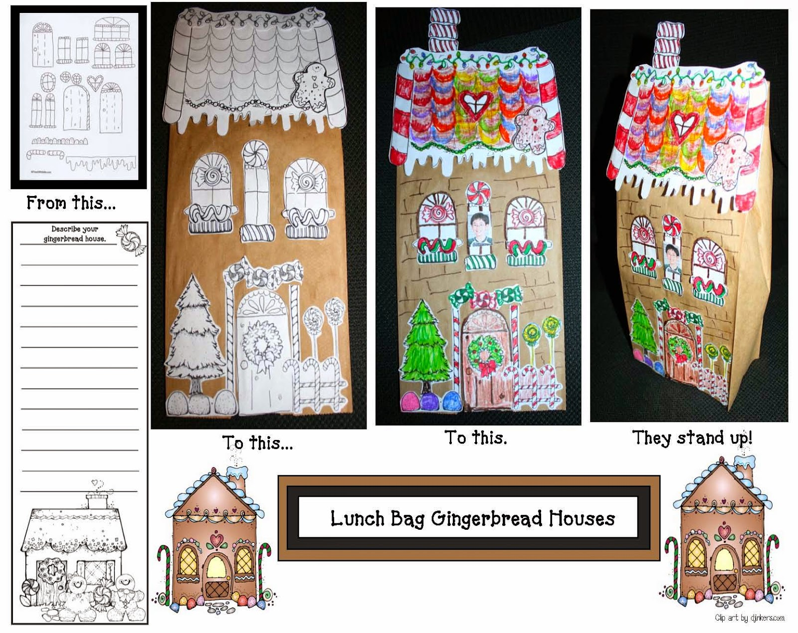 Classroom Freebies Let S Make A Gingerbread House