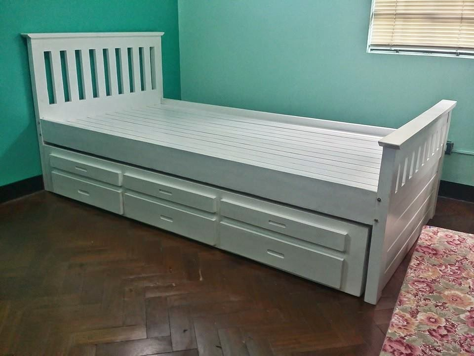 Best Our best seller trundle bed So functional and yet space saving Have this in solid wood made of Australian pinewood No worries about the space