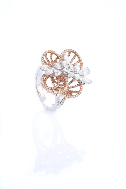Entice rose gold & diamond ring