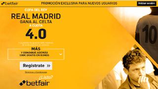 betfair supercuota 4 Real Madrid gana Celta Copa 18 enero