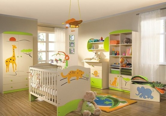 Decoración Estilo Safari En Dormitorio Del Bebé