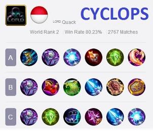 Tips Build Item & Skill Terbaik Cyclops Top Global Player Mobile Legends