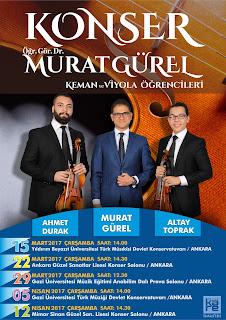 keman viyola konser afiş tasarımı