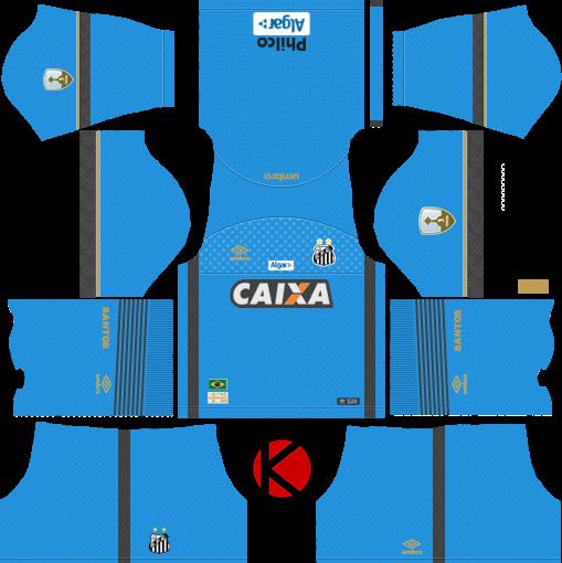 f9a582769 Santos FC 2018 19 Kit - Dream League Soccer Kits - Kuchalana