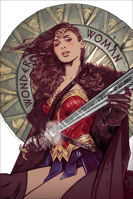 Wonder Woman Movie Screen Print by Tula Lotay x Mondo