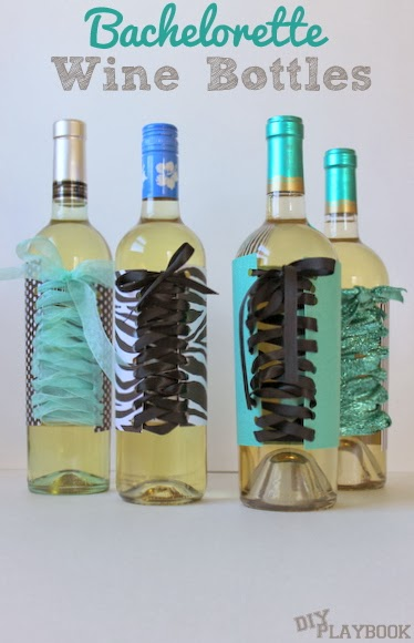 Bachelorette party wine bottles fun easy diy the diy for Diy wine bottle gifts