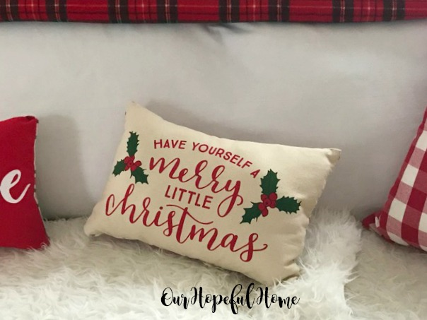 Have Yourself A Merry Little Christmas pillow, Target placemat