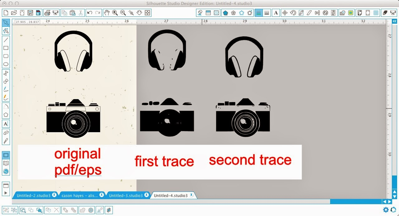 Silhouette Studio, Silhouette tutorial, vector graphics, downloaded