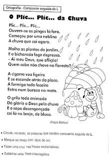 Leitura o plic pilic da chuva