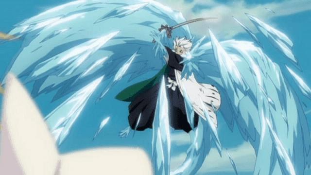 Banka milik Hitsugaya adalah naga es