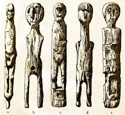 wooden Celtic figures
