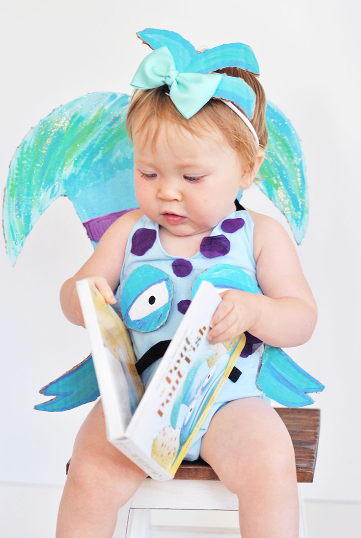 This little costume will leave your little pout-pout fish feeling smooch-worthy and is fairly simple to put together! Get ready to win all the costume contests and spread the cheery-cheeries with this epic DIY book inspired costume!