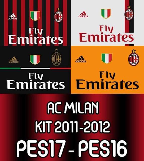 AC Milan Kit 2011-2012 PES 2017 & PES 2016