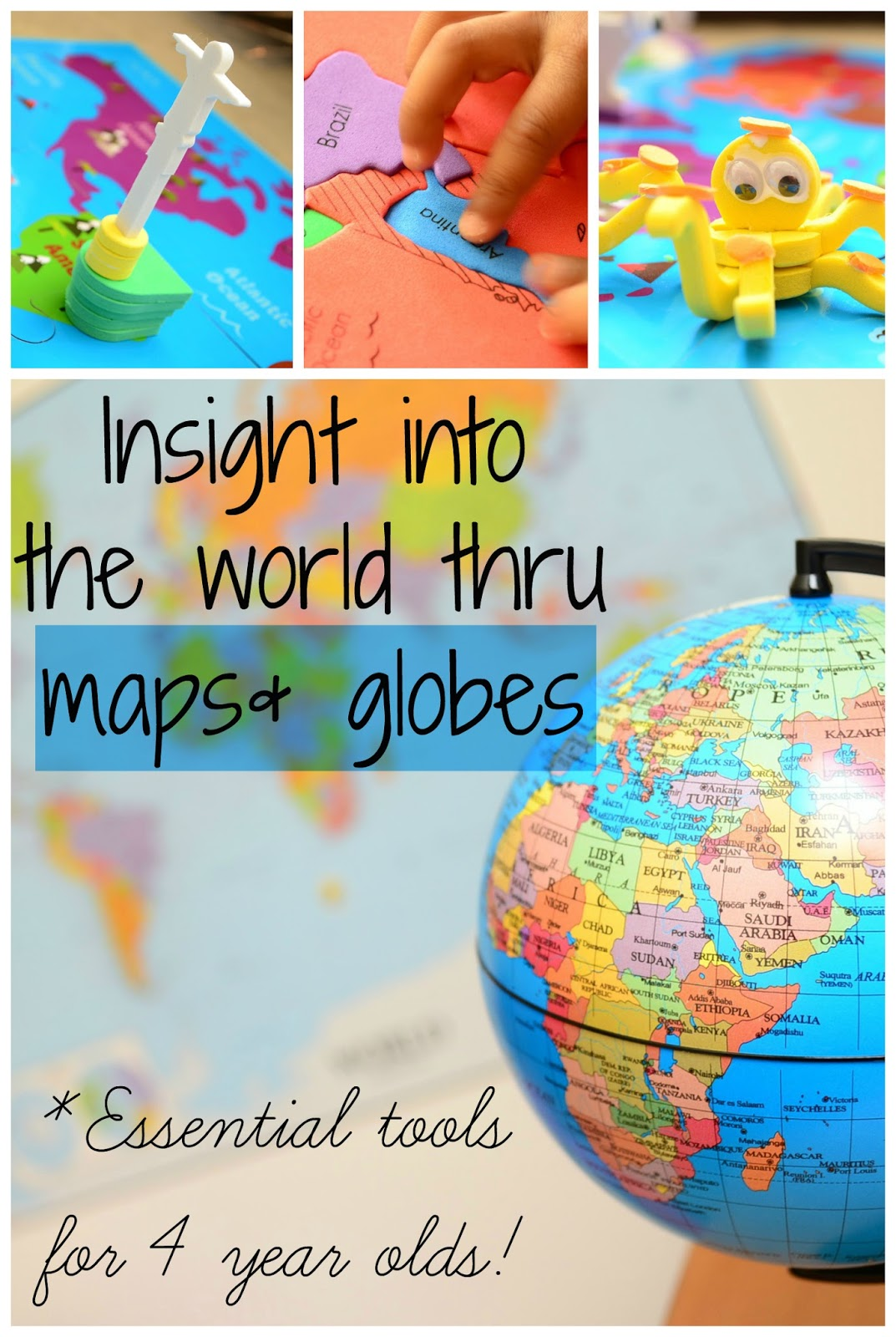 The Practical Mom: Maps & Globes: Essential Tools for 4 year olds