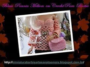 Roupas de Crochê Para Barbie   Criadas Por Pecunia MillioM