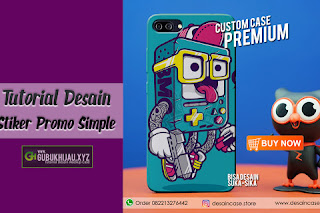 Video Tutorial Desain Stiker Promo Sederhana