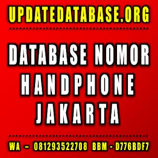Jual Database Nomor Handphone Jakarta