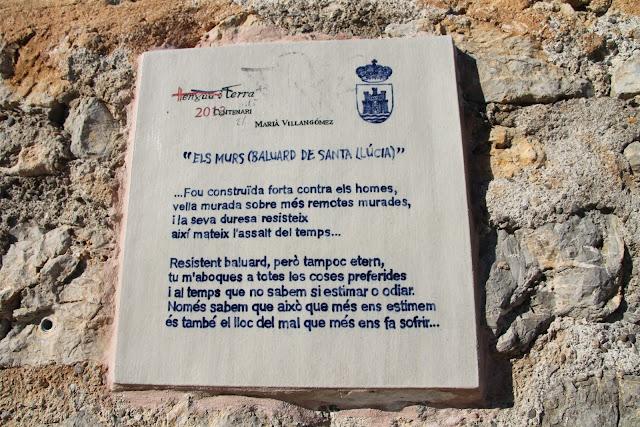 Els Murs (Baluard de Santa Lúcia Versos de Mariá Villangómez