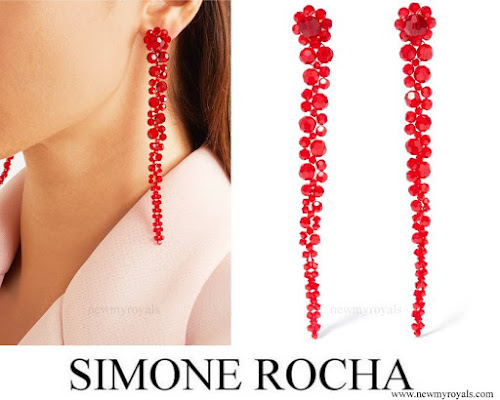 Kate Middleton Jewelry SIMONE ROCHA Crystal Earrings