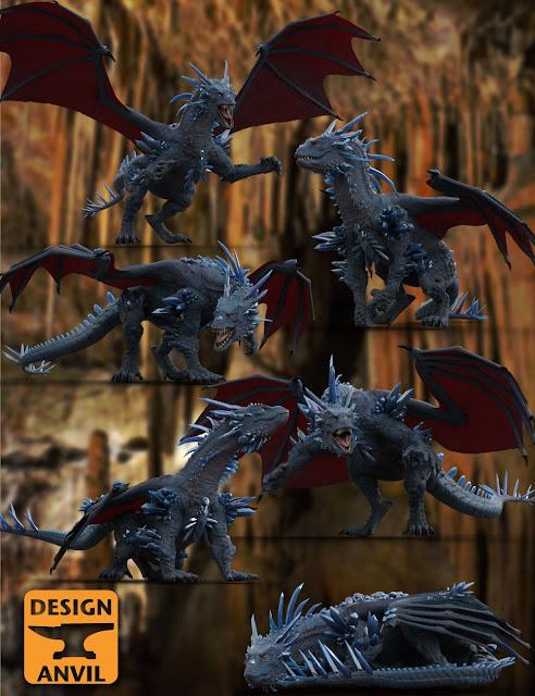 DA Crystal Dragon Pose Set