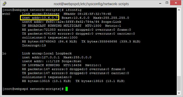 Cara Setting Manual IP Address di Linux CentOS Berhasil