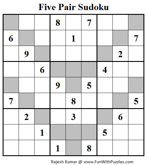 Five Pair Sudoku Puzzle (Daily Sudoku League #115)