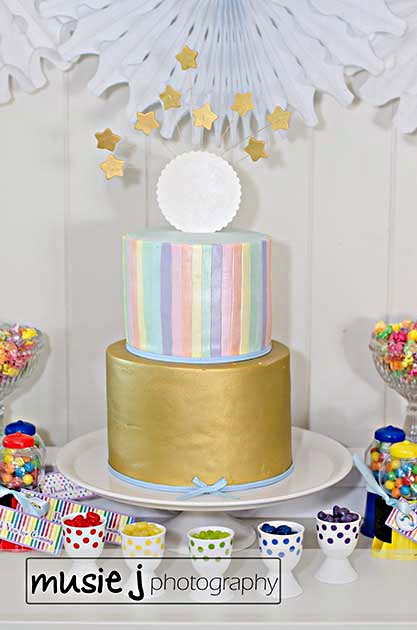 An Elegant Adult Rainbow Party cake - via BirdsParty.com