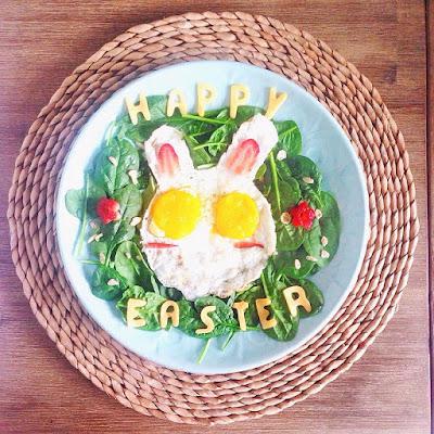 Happy Easter Bunny breakfast
