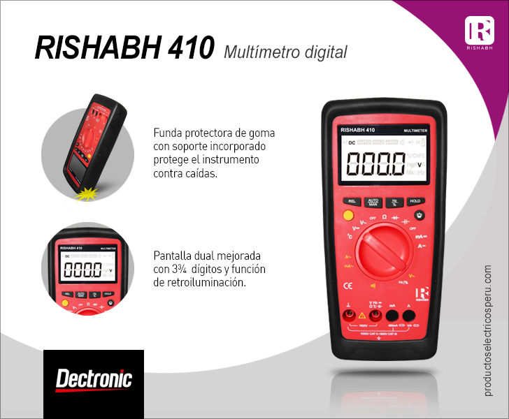 Multimetro digital Rishabh 410