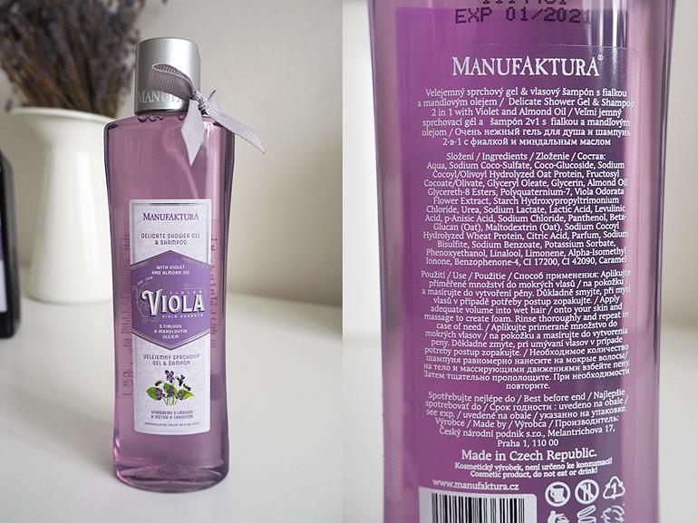 MANUFAKTURA: RECENZE LIMITOVANÁ KOLEKCE FIALKA sprchový gel