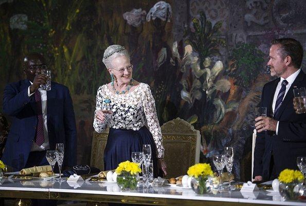 Queen Margrethe attend a gala dinner with President Nana Addo Dankwa Akufo-Addo