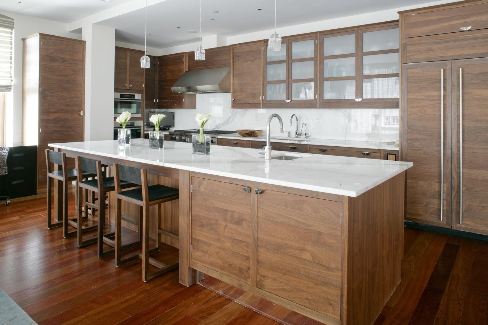Alderwood Kitchen Cabinets With Granite