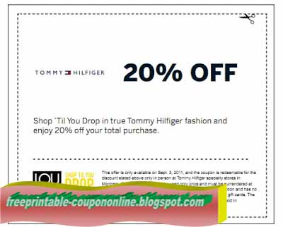 Tommy hilfiger coupon code free shipping