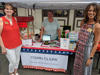 Franklin Town Clerk booth at the Strawberry Stroll