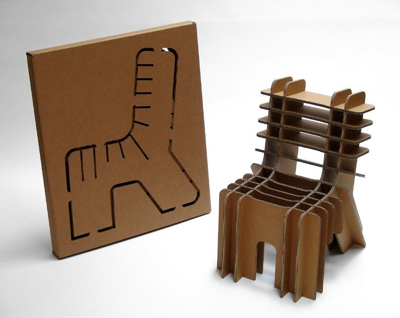 apuntes revista digital de arquitectura algunas sillas de cart n listas para armar y usar. Black Bedroom Furniture Sets. Home Design Ideas