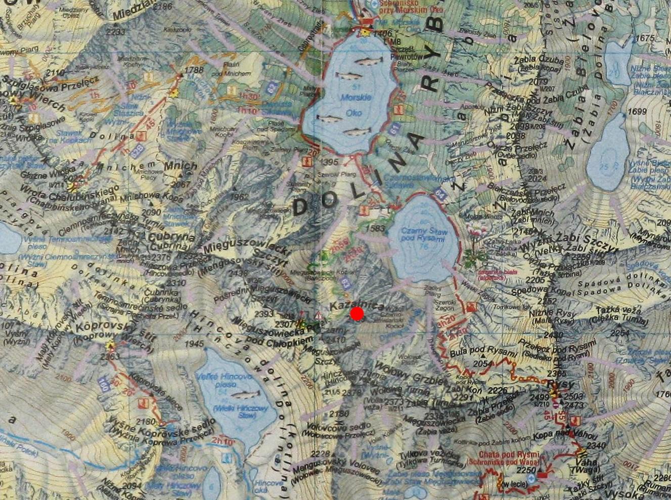 Kazalnica Mięguszowiecka na mapie