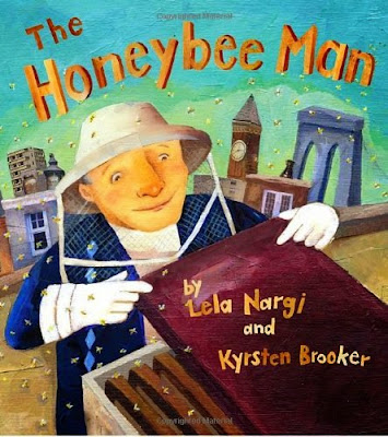 The Honeybee Man by Lela Nargi, part of children's book review list about bees