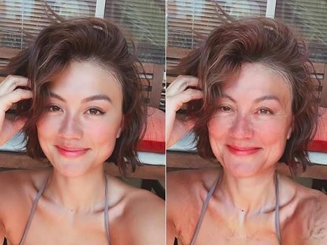 Ikut Age Challenge, Agnez Mo Dipuji Tetap Cantik saat Mukanya Keriput