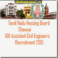 Tamilnadu Housing Board Recruitment 2013 - 2014