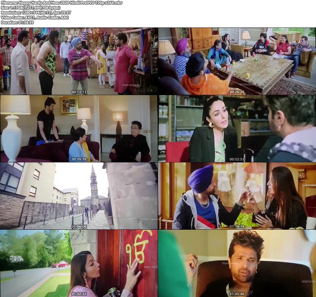 Happy Hardy And Heer 2020 Hindi PreDVD 720p x264 | 480p 300MB | 100MB HEVC Screenshot