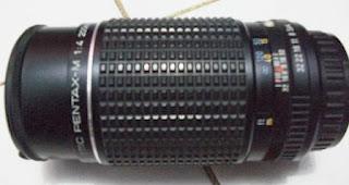 Bagian body lensa Pentax 200mm f/4